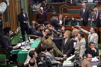 Independent MLA disrupts J&K assembly session