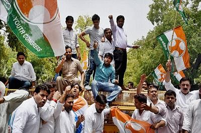 Bengaluru: Youth Congress launches massive protest against BJP