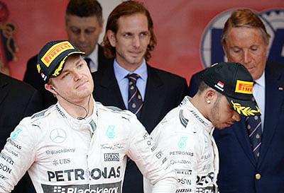 Hamilton ducks the parties  as Rosberg offers sympathy