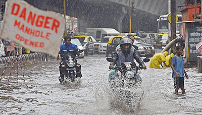 That sinking feeling: Heavy rain lashes Navi Mumbai