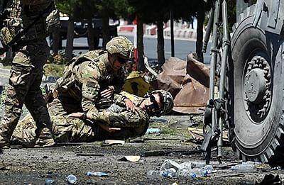 Bomber attacks NATO convoy near US Embassy in Kabul