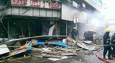 Fire hits Bata showroom