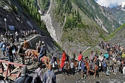 91 pilgrims leave for Amarnath