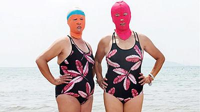 China embraces 'facekini' for fairer skin