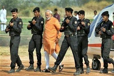Narendra Modi arrives in Kashmir