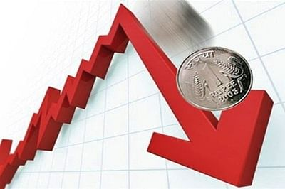 Rupee holds 2.5 month low at 67.49, down 5 paise