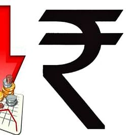Rupee falls 43 paise to settle at an all-time low of 76.87 against US dollar