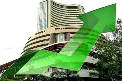 Sensex ends at 2-week high, rebounds 246 pts on macro data