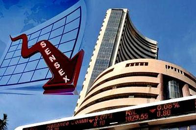 Sensex down 75 points despite positive economic data