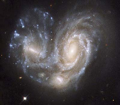 Scientists find what takes place when galaxies collide