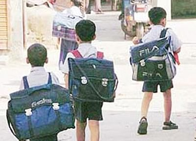 58% school kids suffer from ailments due to heavy bags