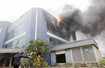 Sony plant gutted in Navi Mumbai