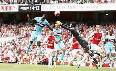 West Ham United  stun Arsenal in English Premier League
