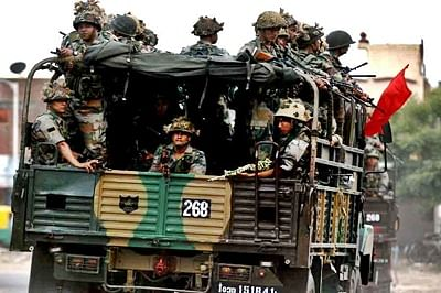Army deployed in three Gujarat cities