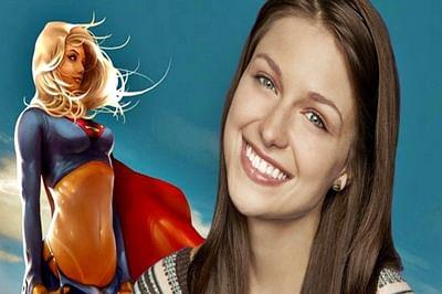 'Supergirl' star Melissa Benoist meets girl scouts on set