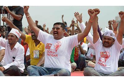Patels flex political biceps