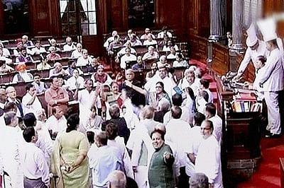 Rajya Sabha disrupted, adjourned