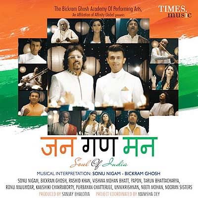 Sonu Nigam, Bickram Ghosh  recreate national anthem