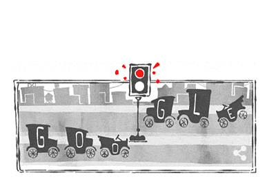 Google doodle celebrates 101 years of 'electric traffic light'
