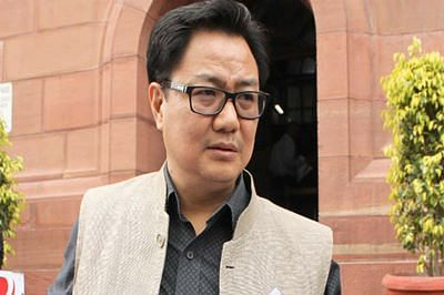 'Slogans against nation 'not acceptable': Rijiju