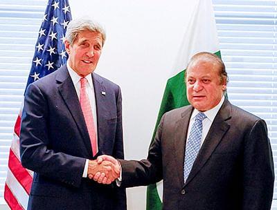 As Modi parties in US,  Sharif gets Kerry rap