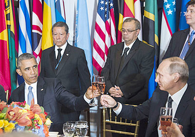 Obama, Putin clash  over Assad's fate at UN