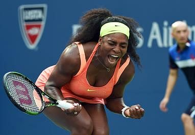 Serena Williams labours to victory