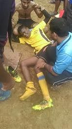 Organisers fail to provide basic med facilities at football tourney