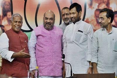 "After sulking over ""better deal"" to Manjhi, Kushwaha, LJP calls truce"