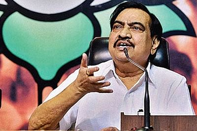 Khadse showcases clout outside & within