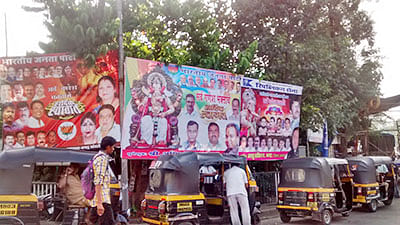BMC, cops play safe; turn a blind eye to illegal banners