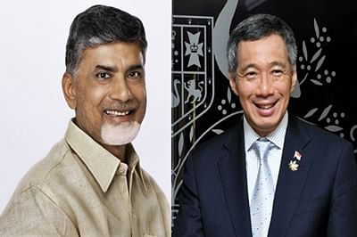 N Chandrababu Naidu invites Singapore PM Lee Hsien Loong for new state capital