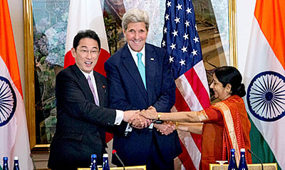 US, India, Japan hold first trilateral ministerial dialogue