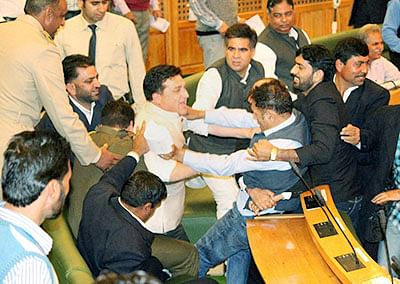 Ruckus in J-K House over beef ban issue
