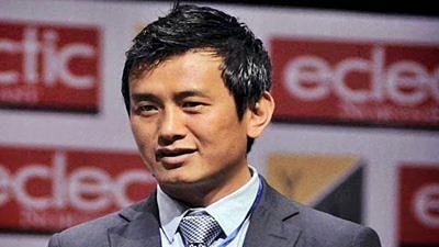 Former Indian footballer Bhaichung Bhutia.