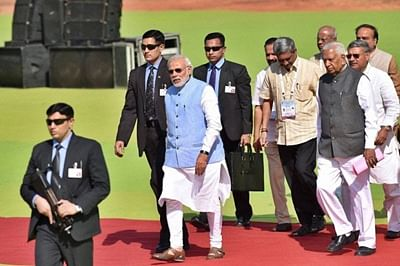 Narendra Modi arrives in Bengaluru to push 'Digital India' and talk technology