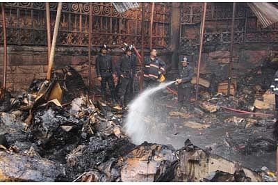 More than 50 shops gutted in Crawford Mart
