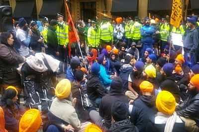 20 held as Sikh protest at Indian mission in UK turns violent