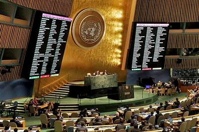 India abstains from voting in UN general assembly