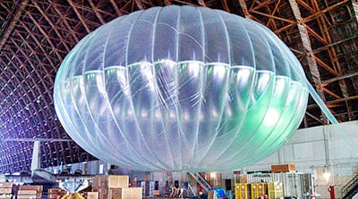 Google's internet  balloons to circle Earth