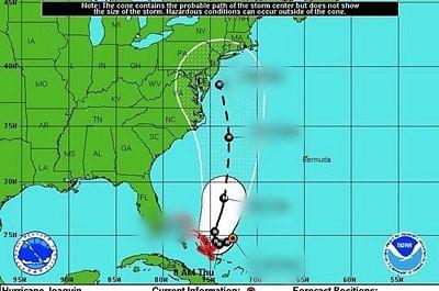 Hurricane Joaquin barrels through Bahamas en route to US