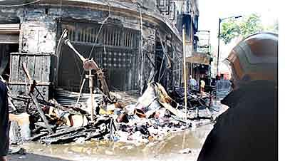City sees three fires in one day,  Dadar bldg gutted in major blaze