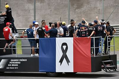 After Todt 'road safety' slip, F1 decides to pay tribute to Paris victims Sao Paulo