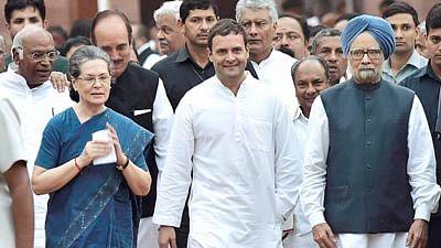 Sonia Gandhi with Rahul Gandhi