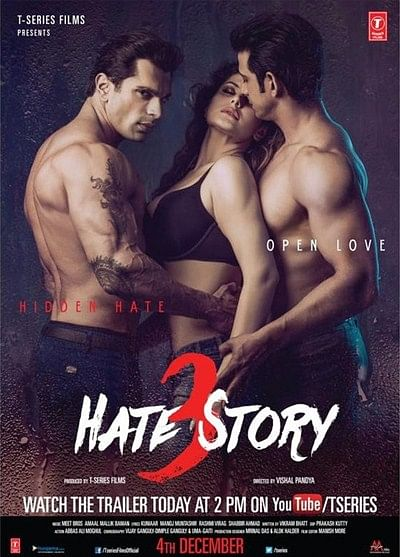 Bollywood's successful erotic revenge franchise HATE STORY set to scorch screen again