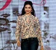 "New Delhi: Actress Deepika Padukone walks the ramp showcasing her own designer label, ""All About You"" during the launch of collection on Myntra shopping app in New Delhi on Tuesday.PTI Photo by Manvender Vashist(PTI10_20_2015_000175B) *** Local Caption ***"