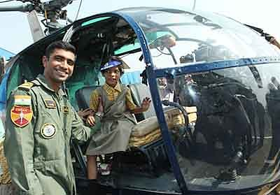 Navy organises air show  for differently-abled kids