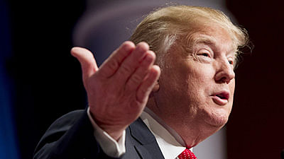 "(FILES) In this December 3, 2015 file photo, Republican Presidential hopeful Donald Trump speaks during the 2016 Republican Jewish Coalition Presidential Candidates Forum in Washington, DC.   Donald Trump said December 10, 2015 he was postponing a planned trip to Israel, but vowed to return ""after I become president of the US."" The Republican firebrand, who is facing fierce criticism from around the world over his call for Muslims to be barred from entering the United States, had been set to meet with Israel Prime Minister Benjamin Netanyahu on December 28. AFP PHOTO / SAUL LOEB"