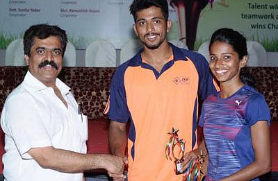 Nikhil, Shweta emerge best athletes