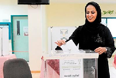 Saudi holds first ever election open to women!